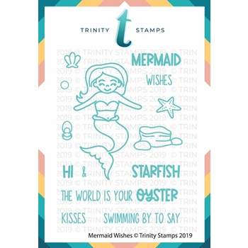 Trinity Stamps MERMAID WISHES Clear Stamp Set 877148