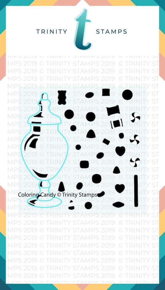Trinity Stamps COLORING CANDY 6 x 6 Stencil 998455 zoom image