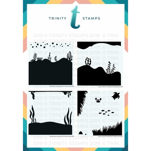 Trinity Stamps SCENES FROM THE SEA 6 x 6 Stencil Set of 4 261583 Preview Image