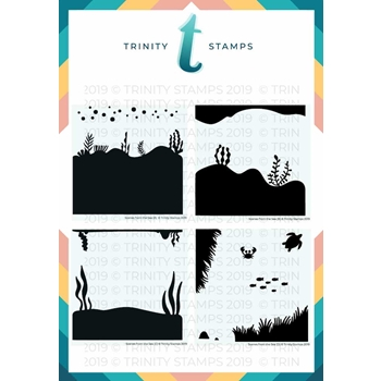 Trinity Stamps SCENES FROM THE SEA 6 x 6 Stencil Set of 4 261583