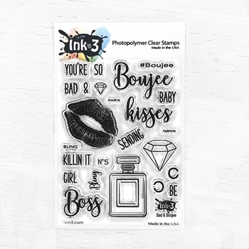 Inkon3 BAD AND BOUJEE Clear Stamps 040413