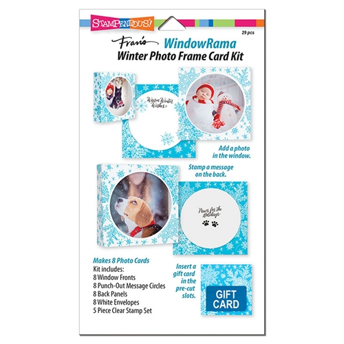 Stampendous WINDOWRAMA WINTER Photo Frame Card Kit wr102 Preview Image
