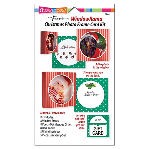 Stampendous WINDOWRAMA CHRISTMAS Photo Frame Card Kit wr101 Preview Image