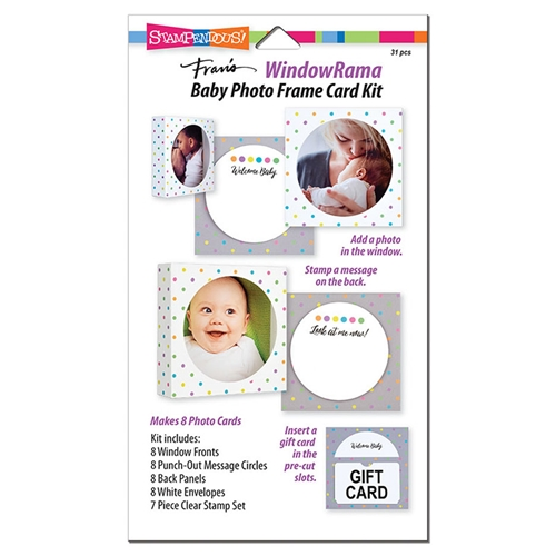 Stampendous WINDOWRAMA BABY Photo Frame Card Kit wr104 Preview Image