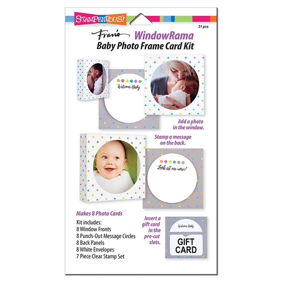 Stampendous WINDOWRAMA BABY Photo Frame Card Kit wr104 zoom image
