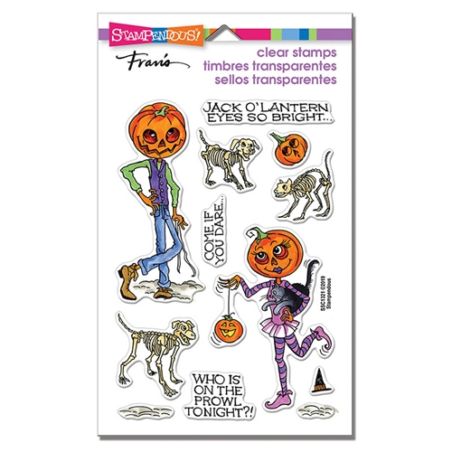 Stampendous Clear Stamps PUMPKIN PEOPLE ssc1321 Preview Image
