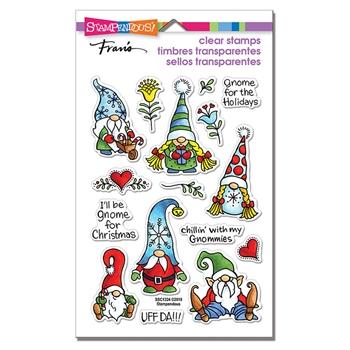 Stampendous Clear Stamps HOLIDAY GNOMES ssc1324