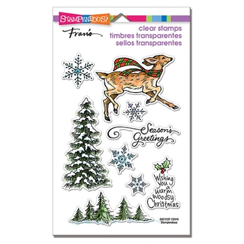 Stampendous Clear Stamps WOODLAND DEER ssc1327