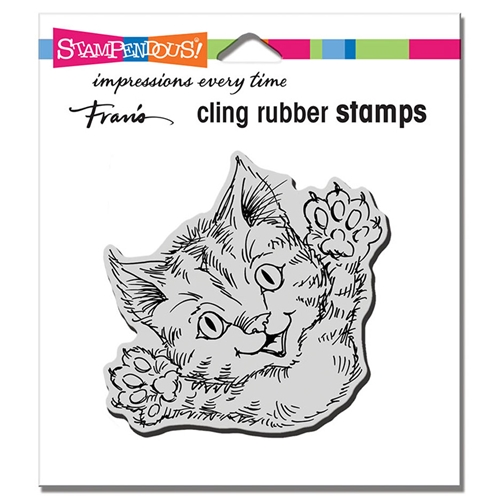 Stampendous Cling Stamp CAT ATTACK crq247 Preview Image