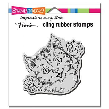 Stampendous Cling Stamp CAT ATTACK crq247