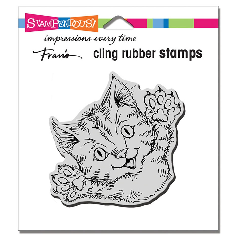 Stampendous Cling Stamp CAT ATTACK crq247 zoom image