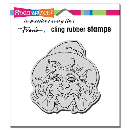 Stampendous Cling Stamp SURPRISE WITCH crq243 Preview Image