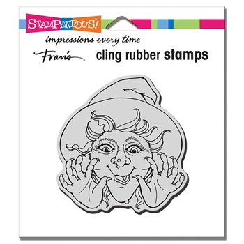 Stampendous Cling Stamp SURPRISE WITCH crq243