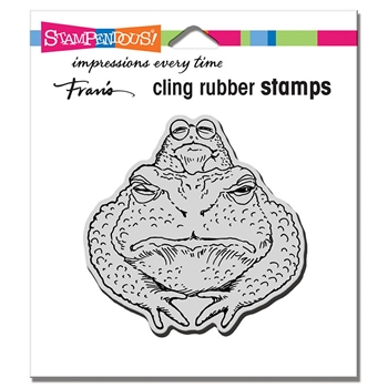 Stampendous Cling Stamp TOAD TWOSOME crq246