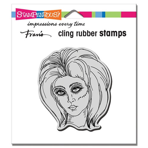 Stampendous Cling Stamp ZOMBIE GIRL crq244 Preview Image
