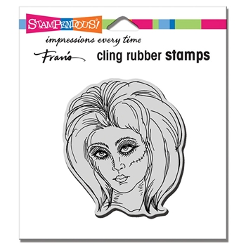 Stampendous Cling Stamp ZOMBIE GIRL crq244