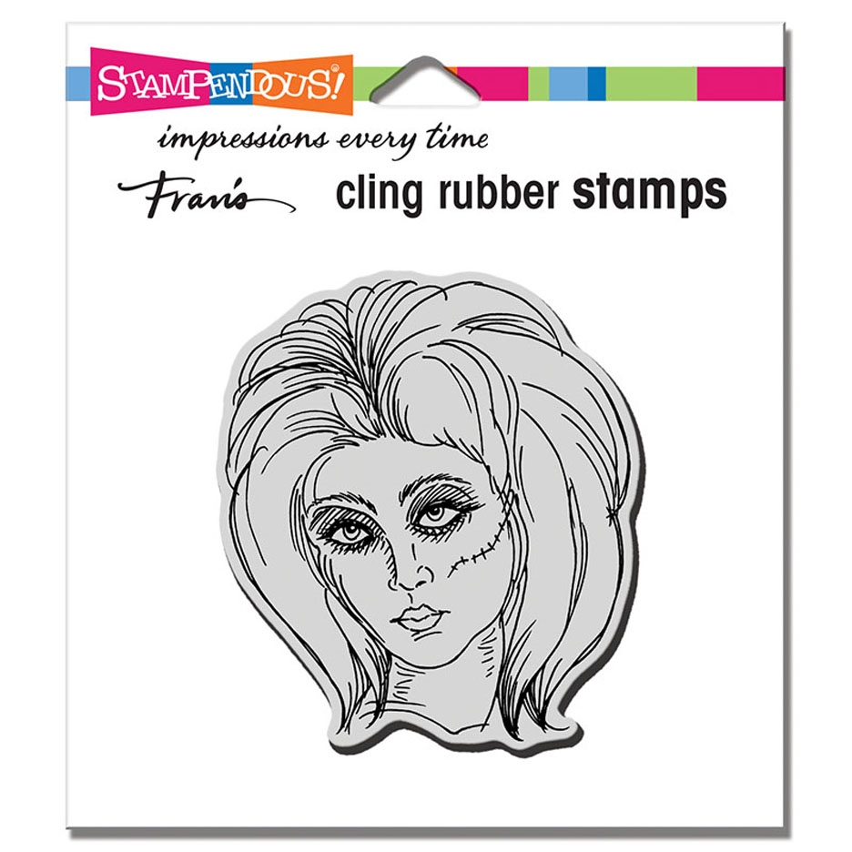 Stampendous Cling Stamp ZOMBIE GIRL crq244 zoom image