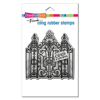 Stampendous Cling Stamp HAUNTED GATES crw210*