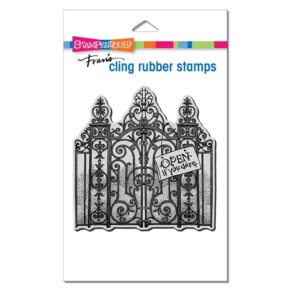 Stampendous Cling Stamp HAUNTED GATES crw210 zoom image