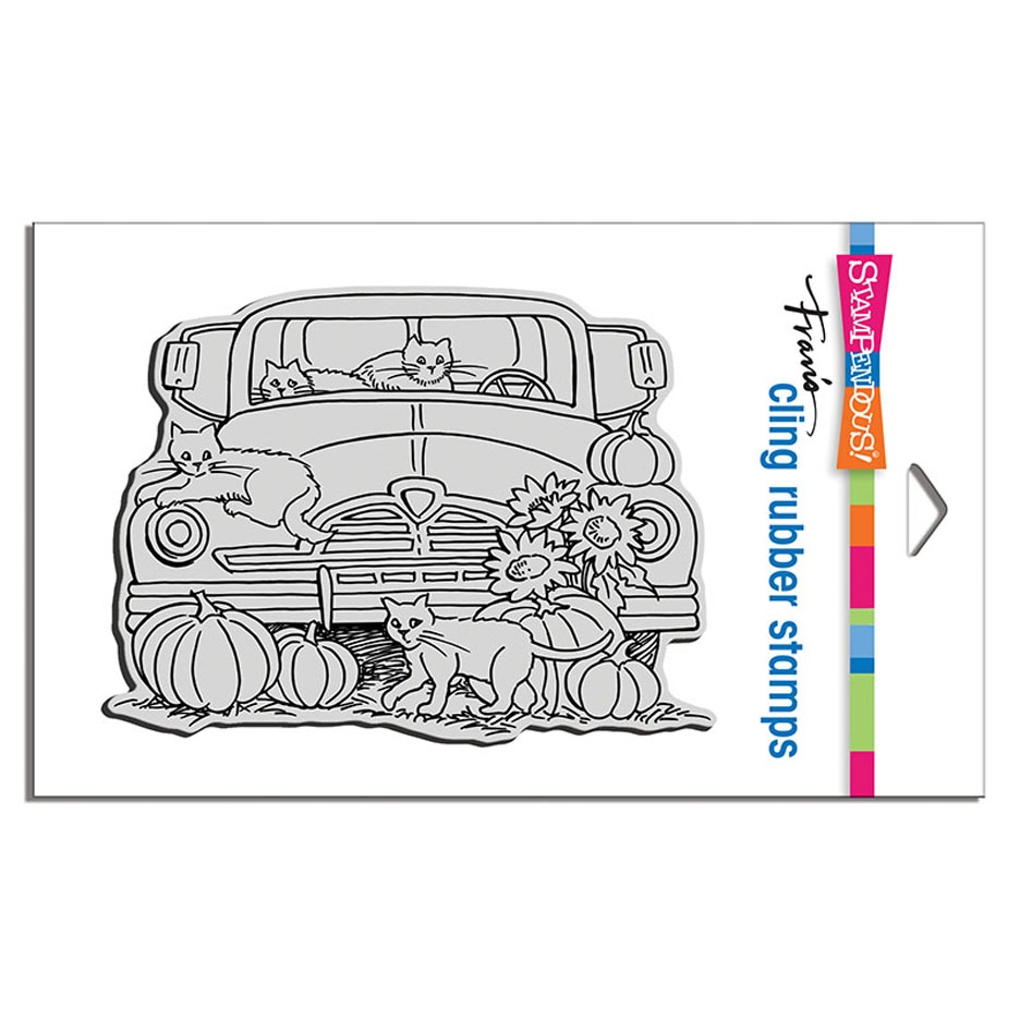 Stampendous Cling Stamp AUTUMN TRUCK crr316 zoom image