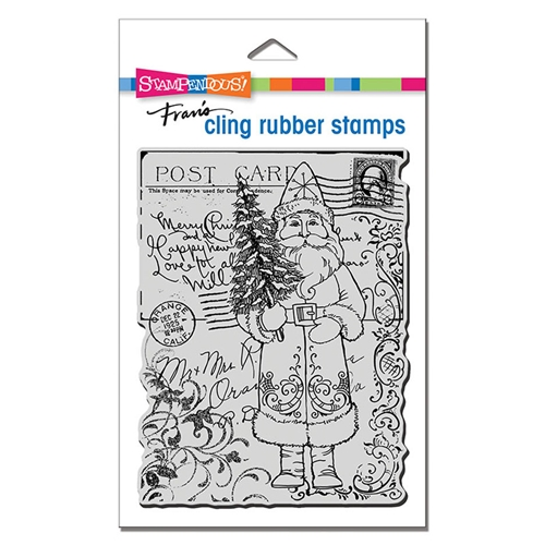 Stampendous Cling Stamp POSTCARD SANTA crr317 Preview Image