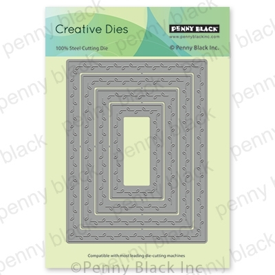 Penny Black LEAF STITCHED FRAMES Thin Metal Creative Dies 51-552 Preview Image