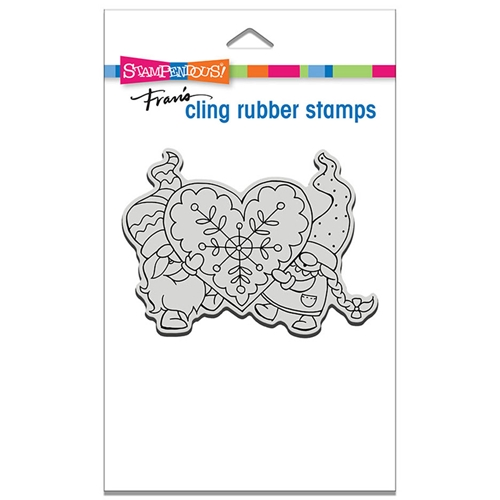Stampendous Cling Stamp GNOME LOVE crp335 Preview Image