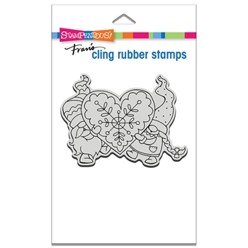 Stampendous Cling Stamp GNOME LOVE crp335