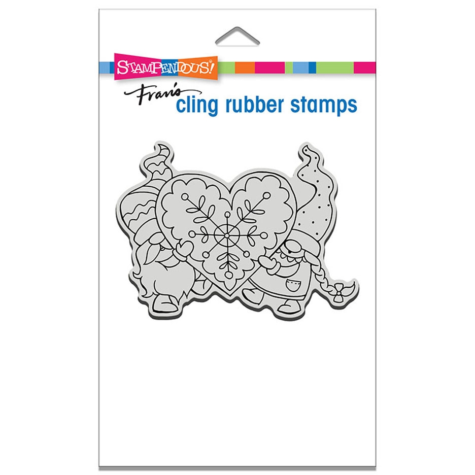 Stampendous Cling Stamp GNOME LOVE crp335 zoom image