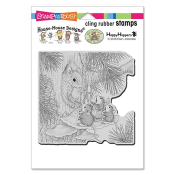 Stampendous Cling Stamp SQUIRREL SINGERS hmcw10 House Mouse