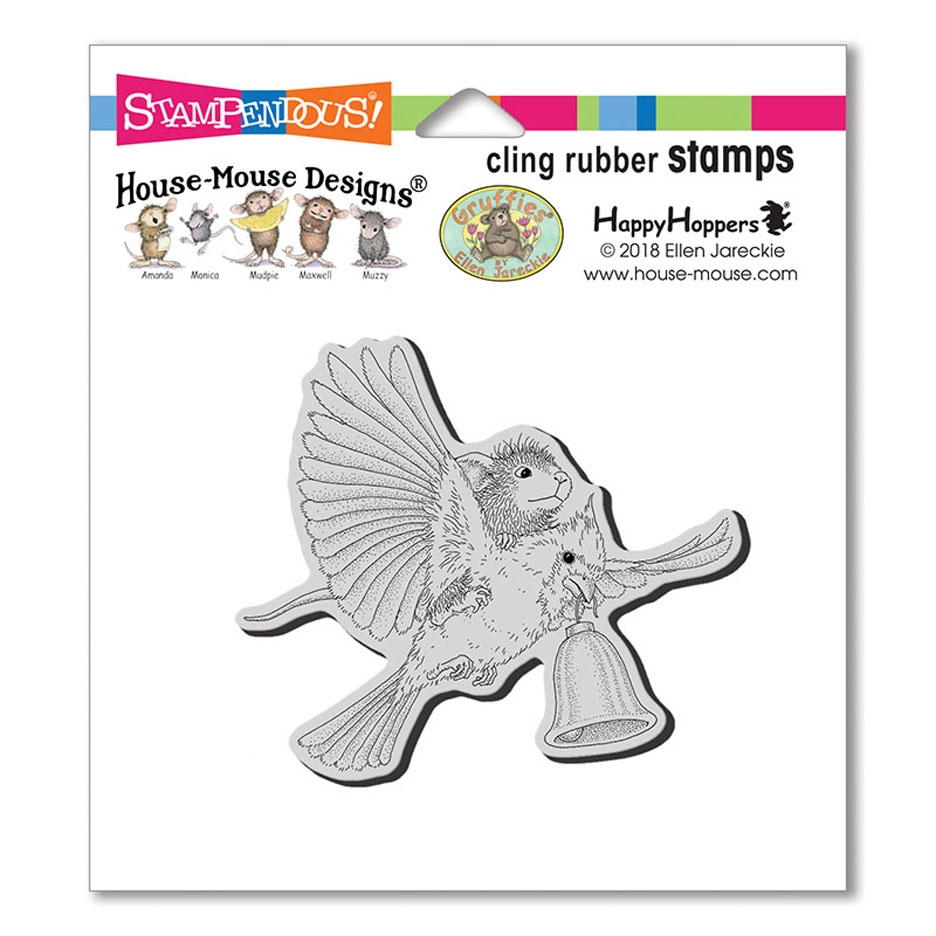 Stampendous, House Mouse Cardinal Bell Cling Stamp