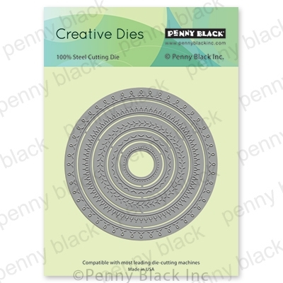 Penny Black STITCHED CIRCLES Thin Metal Creative Dies 51-551 zoom image