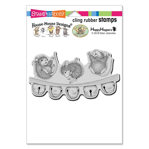 Stampendous Cling Stamp JINGLE JOLLY hmcp112 House Mouse Preview Image