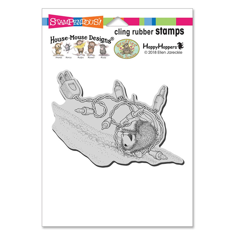 Stampendous, House Mouse tangle Tumble Cling Stamp