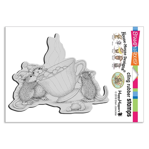 Stampendous Cling Stamp SHARING A SIP hmcr131 House Mouse Preview Image