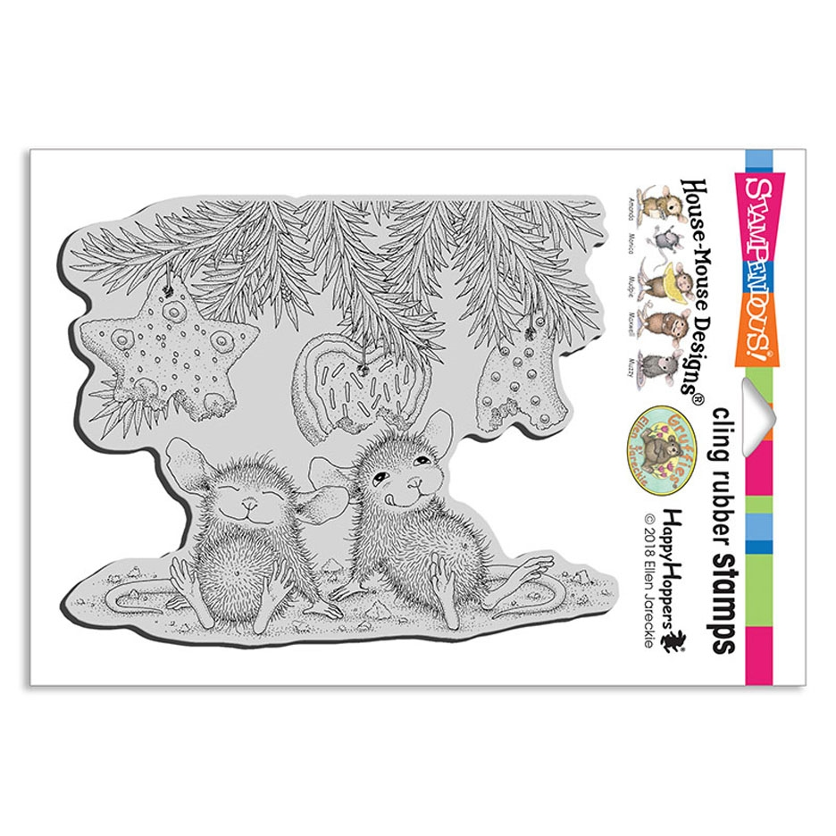 Stampendous: House Mouse Cookie Ornaments Cling Stamp
