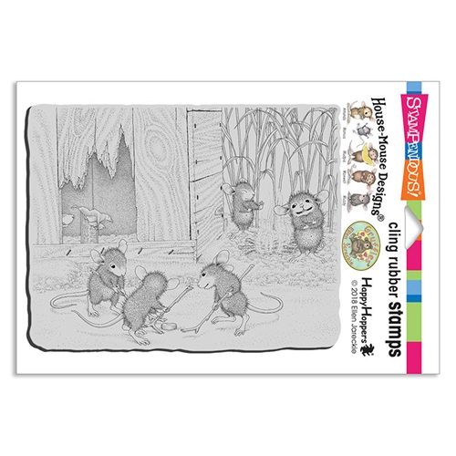 Stampendous Cling Stamp MICE HOCKEY hmcr133 House Mouse Preview Image