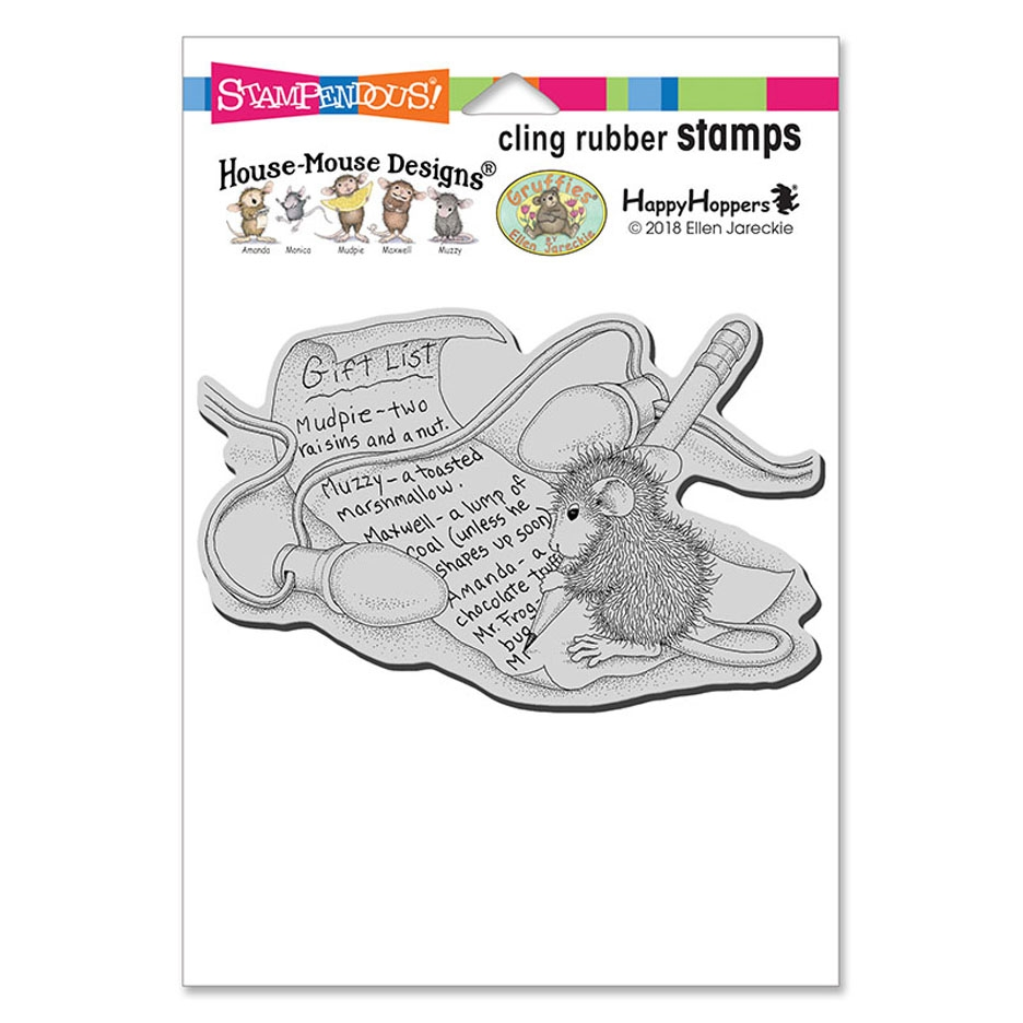 Stampendous Cling Stamp LIGHT NOTE hmcp113 House Mouse zoom image