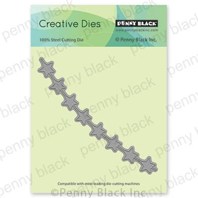 Penny Black STRING OF STARS Thin Metal Creative Dies 51-548 Preview Image
