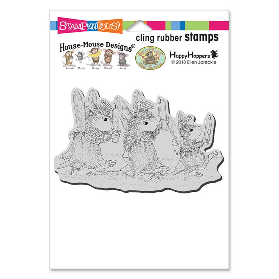Stampendous, House Mouse Angel Procession Cling Stamp