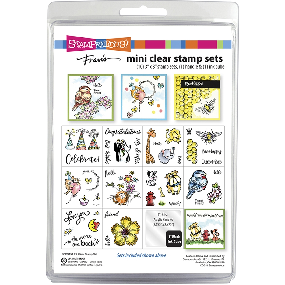 Stampendous Clear Stamps FR MINI SET popst51* zoom image