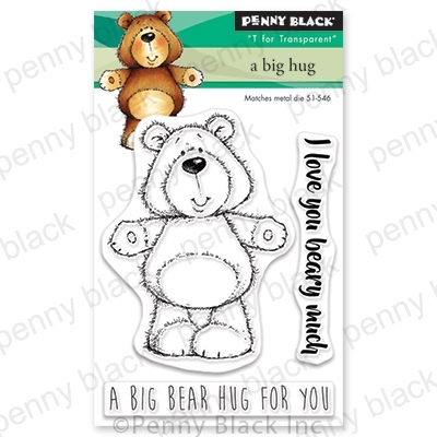 Penny Black Clear Stamps A BIG HUG 30-580 zoom image