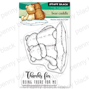 Penny Black Clear Stamps BEAR CUDDLE 30-578
