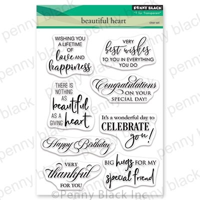 Penny Black Clear Stamps BEAUTIFUL HEART 30-550 Preview Image