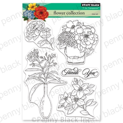 Penny Black Clear Stamps FLOWER COLLECTION 30-575 zoom image