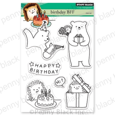 Penny Black Clear Stamps BIRTHDAY BFF 30-587 Preview Image