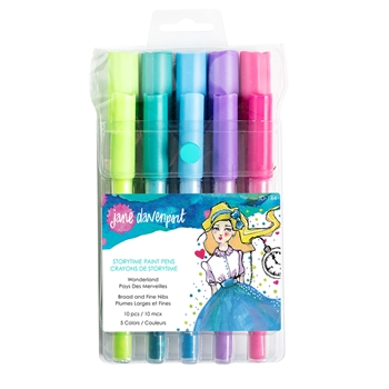 JD-144 Spellbinders Jane Daventport WONDERLAND STORY TIME PAINT PENS
