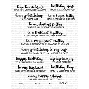 Clearly Besotted SIMPLY SAID BIRTHDAY Clear Stamps CBSSI312