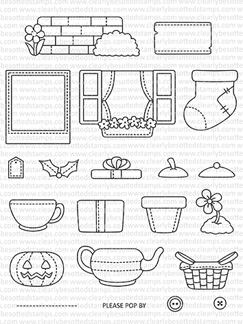 Clearly Besotted POP UP PROPS Clear Stamps CBSPO279 Preview Image