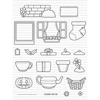 Clearly Besotted POP UP PROPS Clear Stamps CBSPO279